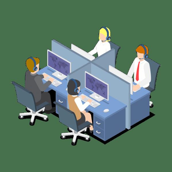 people sitting beside their computers