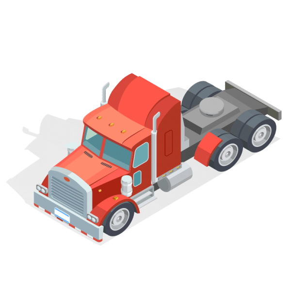 isometric illustration of a truck